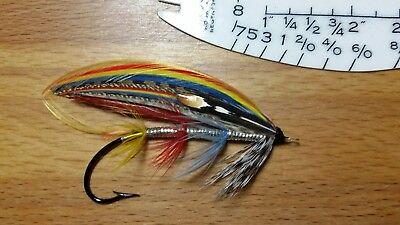 "Classic Salmon Fly - The ""SMITH"" Fly, G.M. Kelson, Indian crow feather"