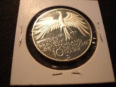 1972 Germany Silver Coin 10 MARK Munich Olympics Proof Like