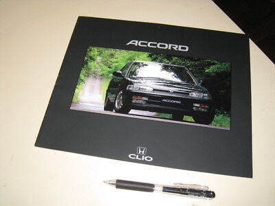 HONDA Accord Japanese Brochure 1991/07 CB1/3/4 F18A F20A Stain