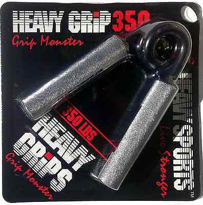 Heavy Grips Men's Hand Gripper - Sliver/Black, Size 350 Free Shipping