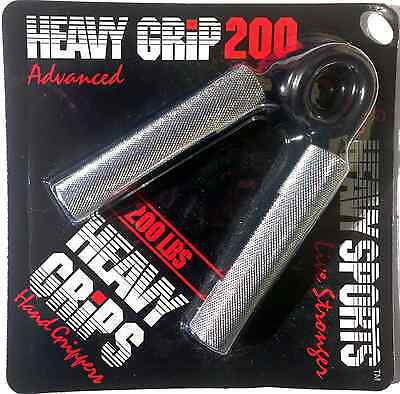 Heavy Grips Men's Hand Gripper - Sliver/Black, Size 200 Free Shipping