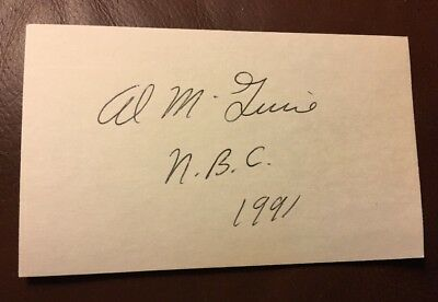 Signed 3 x 5 Index Card AL McGUIRE NBC