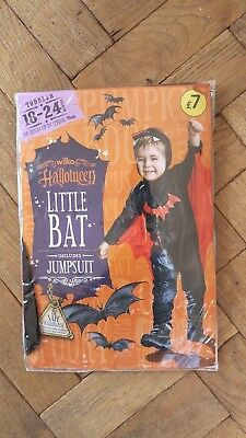 New Halloween Fancy Dress Costume Little Bat Age 18 - 24 Months  1 1/2 - 2 Years