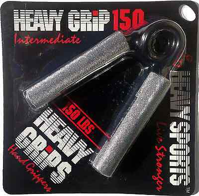 Heavy Grips Men's Hand Gripper - Sliver/Black, Size 150 Free Shipping