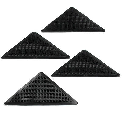 4X Rug Carpet Mat Grippers Non Slip Corners Pad Anti Skid Washable Silicone T9F9