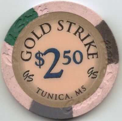 Gold Strike Casino - $2.50 Chip - Snapper - Tunica Mississippi