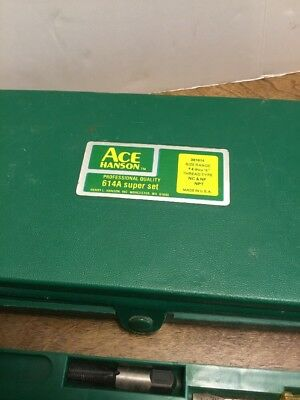 Ace Hanson 614A Super Set Tap And Die Thread Type NC & NF NPT Incomplete