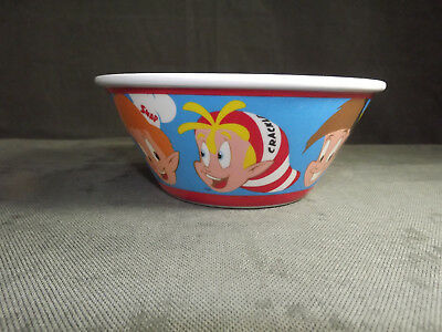 Pair - Kellogg's Sun And Snap Crackle & Pop Plastic Cereal Bowls NEW