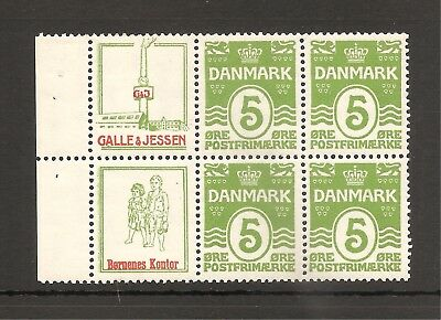DENMARK (RE44+50) Advertising Booklet pane, NH