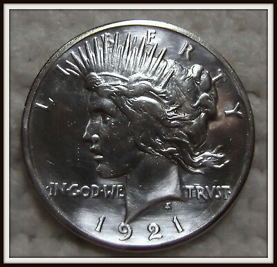 1921 $1 Peace Silver Dollar (XF) High Relief Lot #2