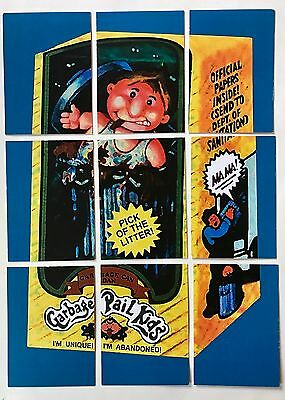 LOST WACKY PACKAGES Garbage Pail Kids 1st SERIES ALT PUZZLE SET #3 GPK