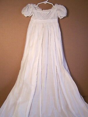 Antique long early 1800s Georgian Christening gown