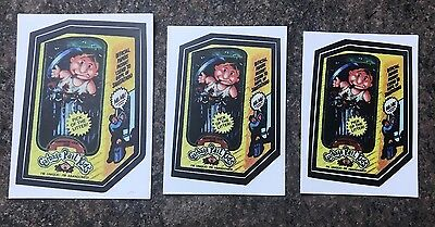 "2005 Topps GPK GARBAGE PAIL KIDS Lost Wacky Packages FONZIE ""3 SIZE"" TEST SET"