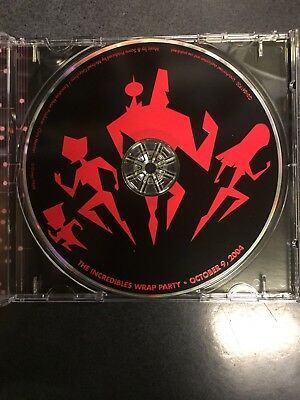 Disney Pixar The Incredibles Cast And Crew CD Musical Score By Michale Giacchino