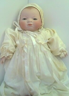"""17""""  Bye-Lo Grace S Putnam Baby Doll w/ Christening Gown Bisque/Cloth"""