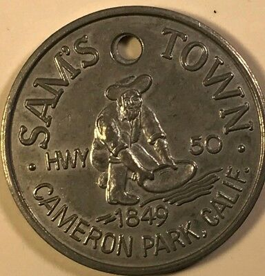 Vintage Sam's Town Cameron Park California 1894 Good Luck Token **RARE**