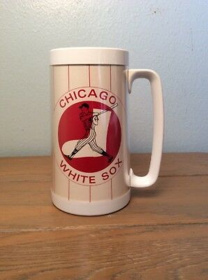 Vintage Thermo-Serve Chicago White Sox Falstaff Insulated Beer Mug Cup