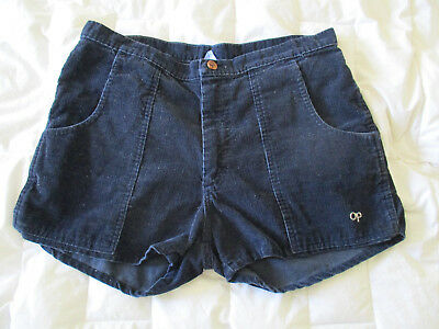 VTG Rare 1970s Op Ocean Pacific Cord Shorts Navy Blue - Dogtown- Surf- 32