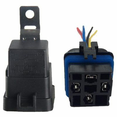 40 Amp Waterproof Relay Switch Harness 12V DC 5-Pin SPDT 12 AWG Hot Wires F X5B8