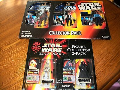 Set of 2 Star Wars Collector Packs from Star Wars and Episode 1 (5) Figures NIB