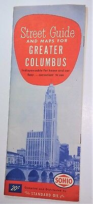 Sohio Street Guide And Maps For Greater Columbus Vintage Map