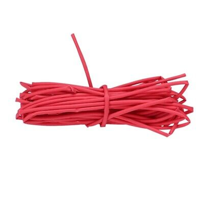 Wire Wrap 1mm Dia Red Heat Shrinkable Tube Shrink Tubing 4 Meters WS J6N5