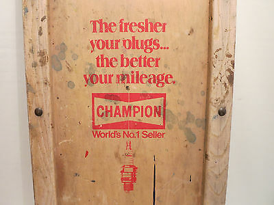 "Vintage Wood Mechanic Creeper ""CHAMPION"" Spark Plugs Advertising SEE!"