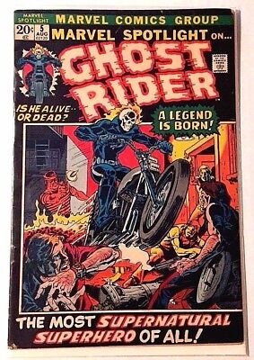 Marvel Spotlight #5 - 1st Appearance of Ghost Rider rated VG