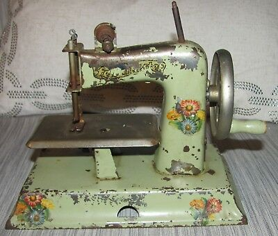 Antique Child's SEWING MACHINE Sew Master Floral