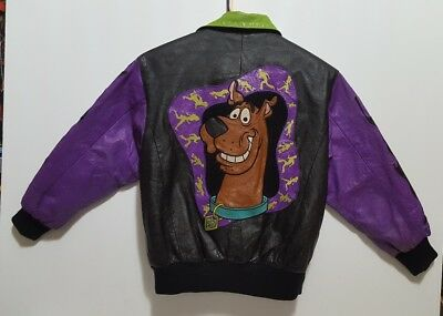 Cartoon Network Scooby Doo Leather Jacket Size (M) 1998 Casually Used
