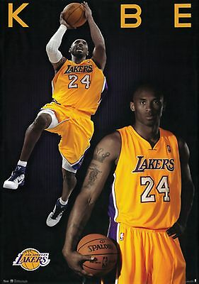 "KOBE BRYANT POSTER PRINT LOS ANGELES LAKERS NBA SPORTS  24""x36"" NEW"