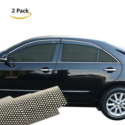 2Pcs Car Side Window Films Car Protection Films Side Window Sun Shade Stickers