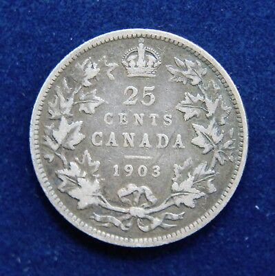 Canada 1903 Edward VII Sterling Silver Twenty-Five Cents