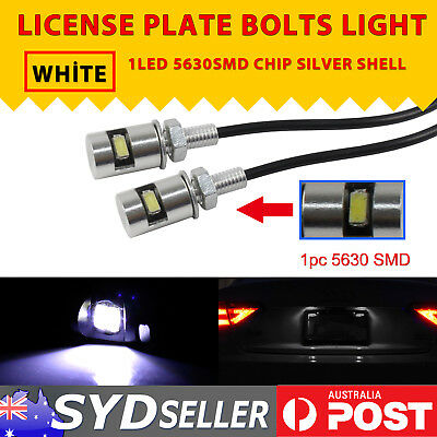 4PCS LED License Number Plate Light Screw Bolt Bulbs 5630 Chip White Car Motor