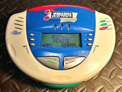 Hasbro Jeopardy Remote 3 Player Handheld Travel Game Tiger Electronics 2003