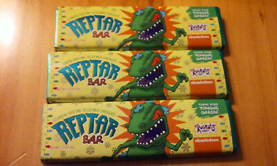 3 Reptar Bar Nickelodeon's Rugrats Milk Chocolate  Turns your Tongue Green