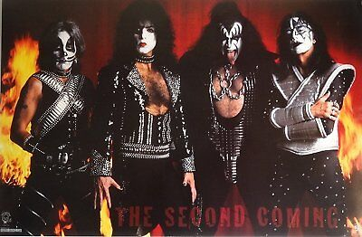 Kiss:second coming poster 1996 new sealed