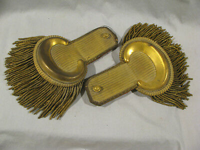 Antique PAIR OF OFFICERS SHOULDER EPAULETTES - CIVIL WAR ERA?