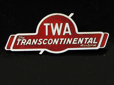 Old Twa Transcontinental Airlines Pin