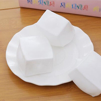 Popular Decompression Toy White Tofu Shape Funny Stress Reliever Creative Gifts