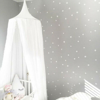 Kids Bedding Round Dome Bed Canopy Cotton Linen Mosquito Net Curtain for Baby