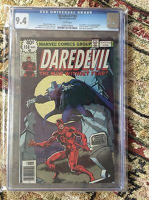 MARVEL DAREDEVIL #158 1979 CGC 9.4 WHITE PAGES 1st FRANK MILLER DEATH-STALKER