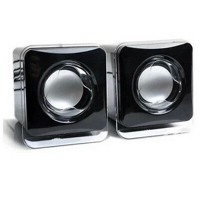 Mini Portable USB Audio Crystal Square Speaker For iPhone iPad MP3 Laptop PC