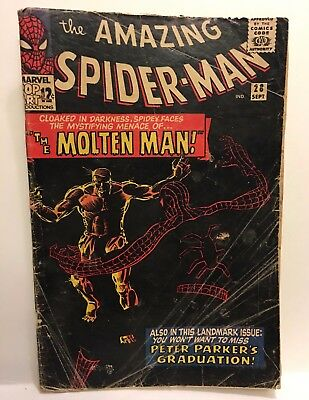 The Amazing Spiderman # 28 Molten Man Key Issue
