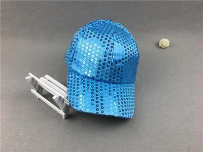 2017 Men's New Style Unisex Sequined Baseball Cap Stage performance Hat Blue