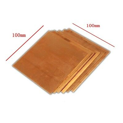1pc 100mm × 100mm x 1mm 99.9% Pure Copper Cu Metal Sheet Plate Freeship