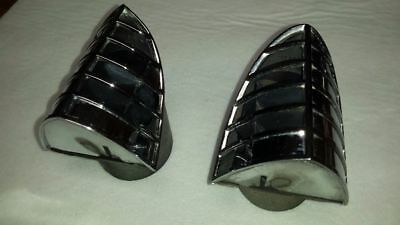 1957-58 Buick Dash Corner Air Vents Chrome A/C.