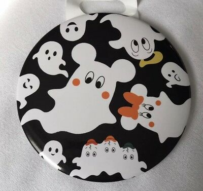 Halloween Mickey Minnie Donald Ghost Button Pin JDS Japan Disney Store Limited