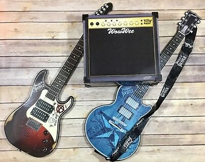 Paper Jamz WowWee Guitar and Amp Red Black Blue Series I II Style 1 2 Music Kids
