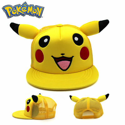 Pokemon Go Pikachu Adjustable Trucker Baseball Cap Hat Cosplay Costume Cool Gift